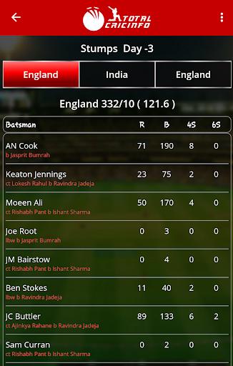 Live Cricket Scores & Updates -Total Cricinfo 3 تصوير الشاشة