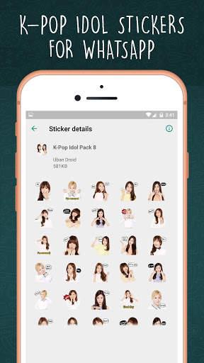K-Pop Idol WAStickerapps screenshot 8