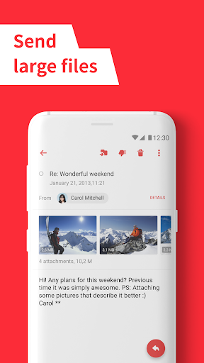 myMail: Email App for Gmail, Hotmail & AOL E-Mail 5 تصوير الشاشة