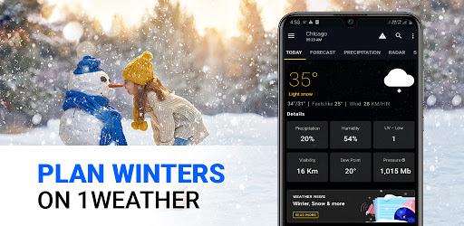 1Weather: Forecasts, Widgets, Snow Alerts & Radar 8 تصوير الشاشة