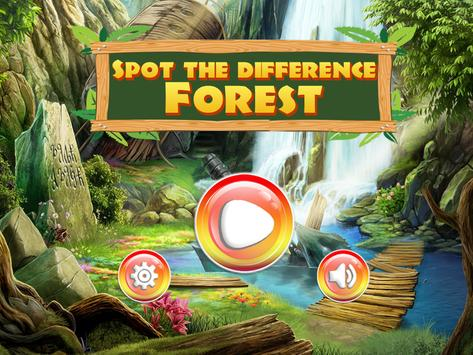 Spot the difference Forest- Find It 1 تصوير الشاشة