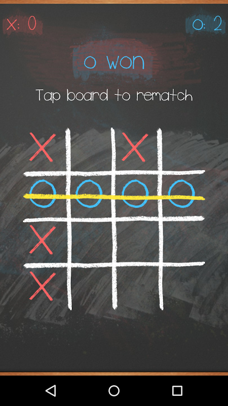 Tic Tac Toe on blackboard 6 تصوير الشاشة