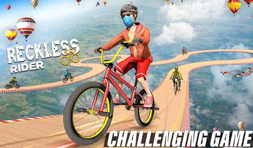 Reckless Rider- Extreme Stunts Race Free Game 2020 screenshot 1