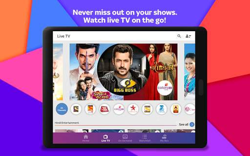 Tata Sky Mobile- Live TV, Movies, Sports, Recharge screenshot 20