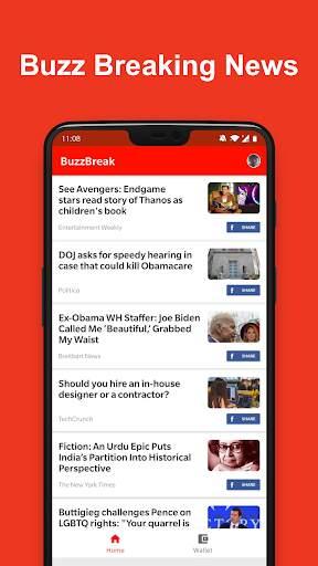 BuzzBreak - Read, Funny Videos & Earn Free Cash! screenshot 1