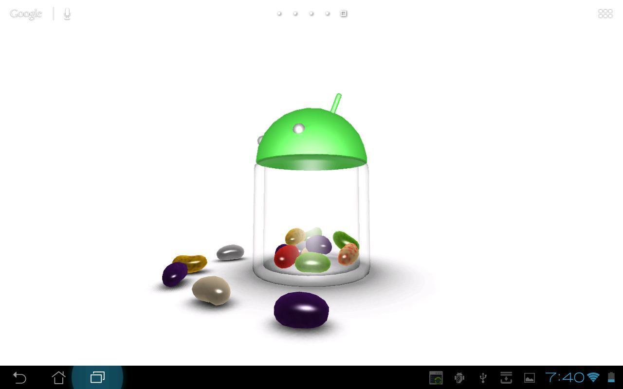3D Jelly Bean Live Wallpaper screenshot 4