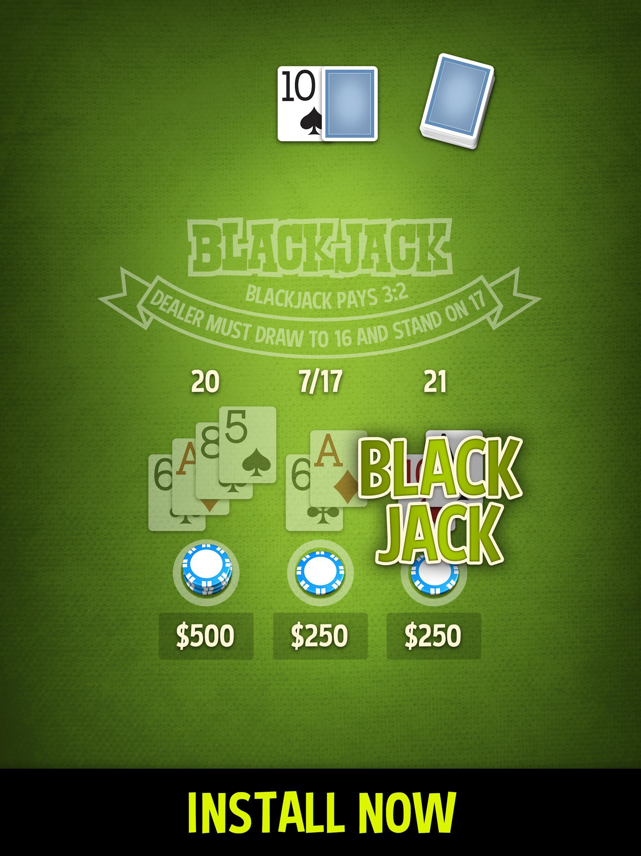 Blackjack 21 - ENDLESS & FREE 2 تصوير الشاشة