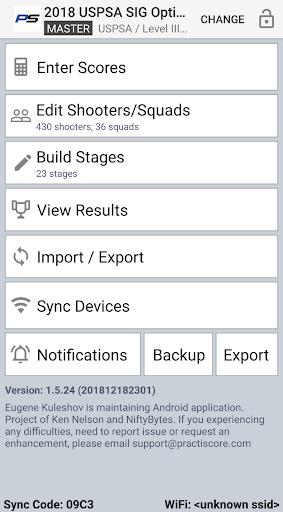 PractiScore screenshot 1