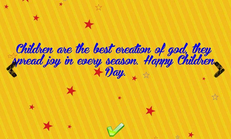 Children day greetings 4 تصوير الشاشة
