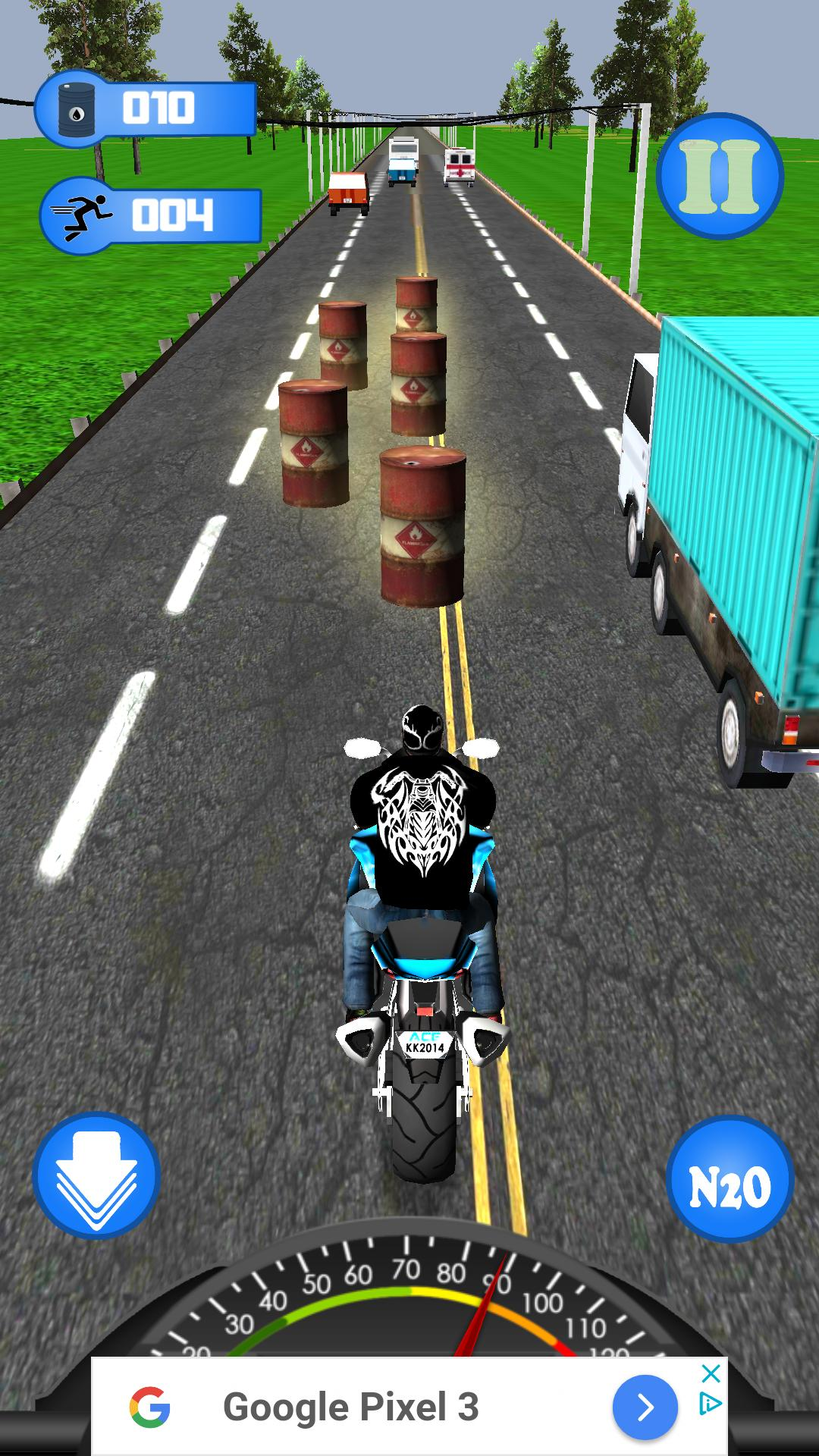 Highway Dash 3D - Speed Street Bike Moto Racing 1 تصوير الشاشة