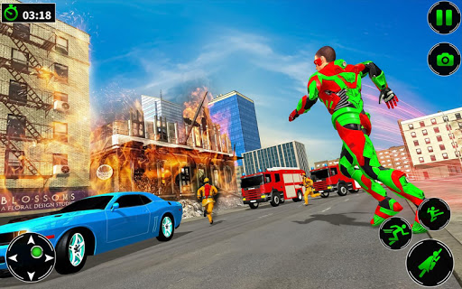 Light Robot Superhero Rescue Mission screenshot 10