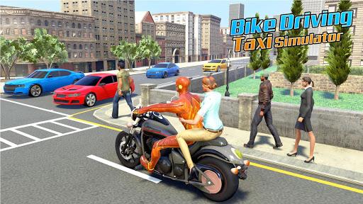 Superhero Bike Taxi Simulator: New Bike Games Free screenshot 3