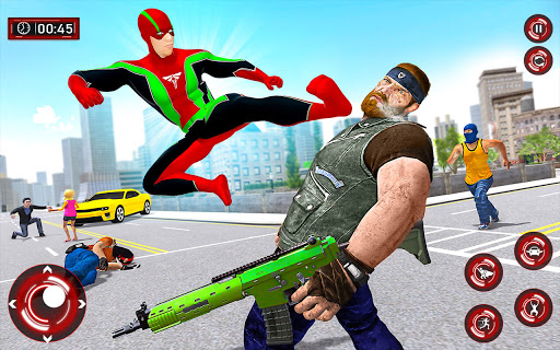 Superhero Light Robot Rescue: Speed Hero Games screenshot 4