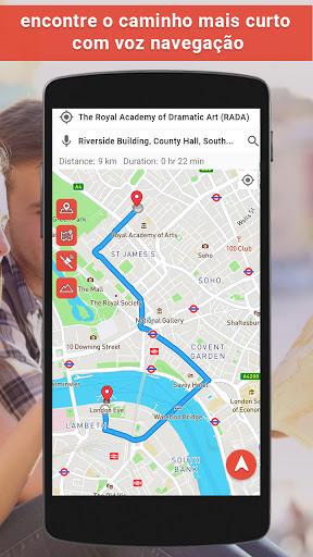 GPS satélite - viver terra mapas E voz navegação screenshot 2