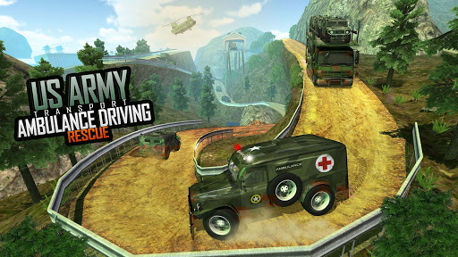 US Army Ambulance Driving Game : Transport Games 5 تصوير الشاشة