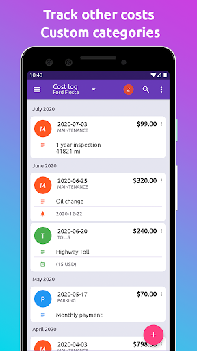 Fuelio: gas log, costs, car management, GPS routes screenshot 4