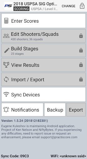 PractiScore screenshot 2
