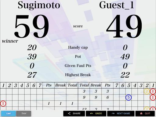 neon cue sports score board screenshot 10