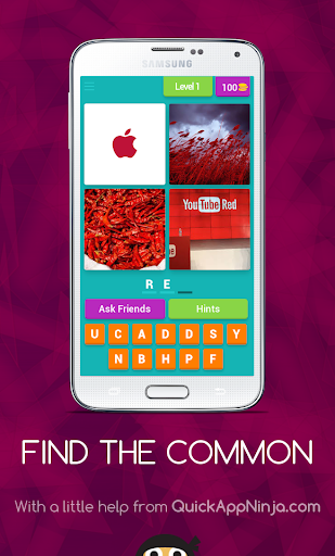 Find The Common:4 PICS 1 WORD screenshot 3