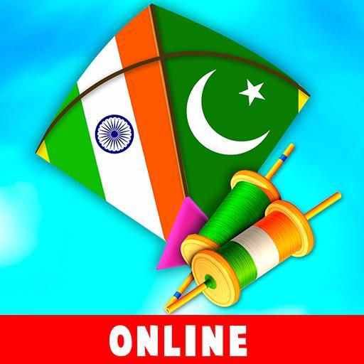 الهند مقابل باكستان طائرة ورقية تطير أيقونة