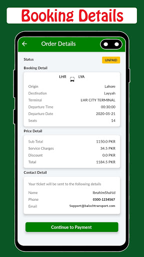 Baloch Transport - Online Ticketing screenshot 6