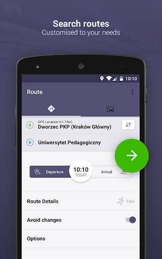 Jakdojade: public transport screenshot 1