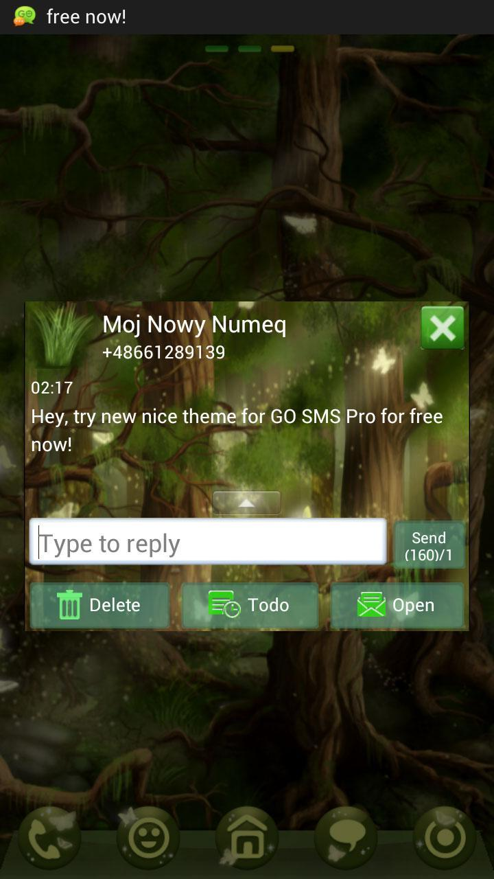 Forest Theme GO SMS Pro screenshot 4