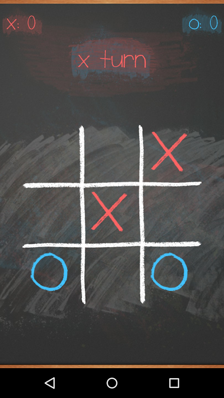 Tic Tac Toe on blackboard 3 تصوير الشاشة