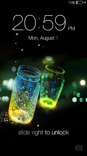 Fireflies lockscreen 6 تصوير الشاشة