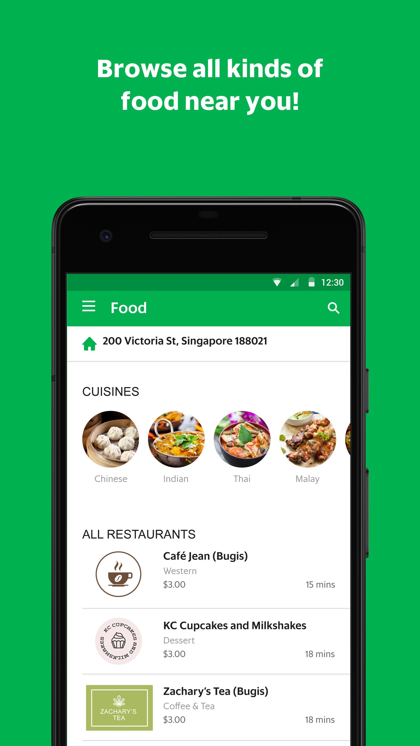 GrabFood - Food Delivery App скриншот 2