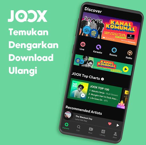 JOOX: Gratis Musik download, Radio dan Karaoke screenshot 1
