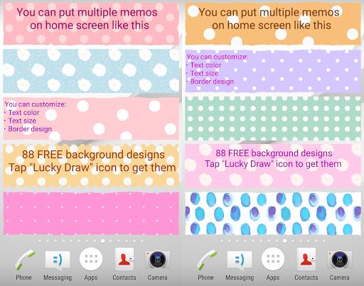 Sticky Memo Notepad *Dots* Free screenshot 1