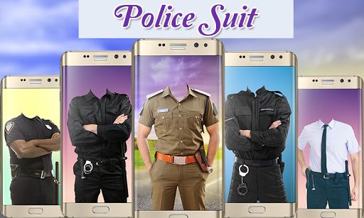 Police Suit Photo & Image Editor - Photo Frames 1 تصوير الشاشة