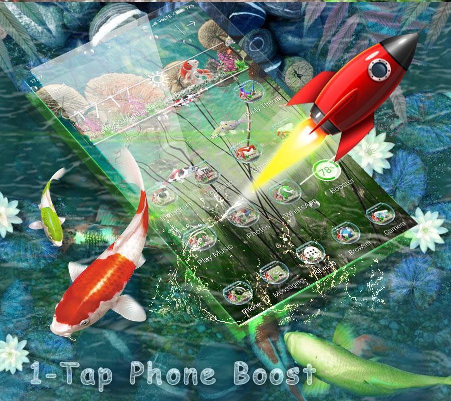 3D Koi Fish Launcher screenshot 5