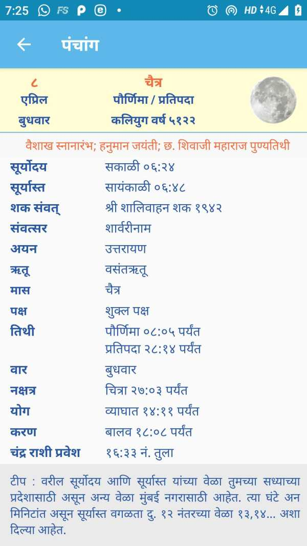 Marathi Calendar 2020 (Sanatan Panchang) screenshot 3