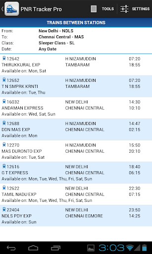 Indian Rail Guide screenshot 8
