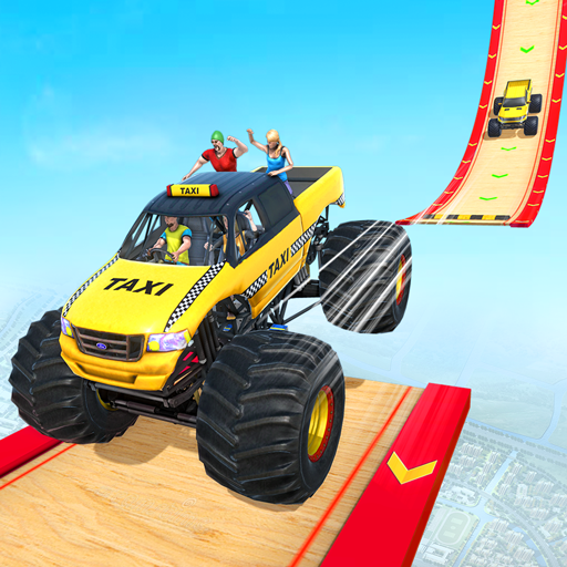 Grand Taxi Monster Truck Driving Stunt Racing Game screenshot 4