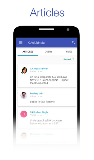 CAclubindia- Tax and Query App screenshot 1