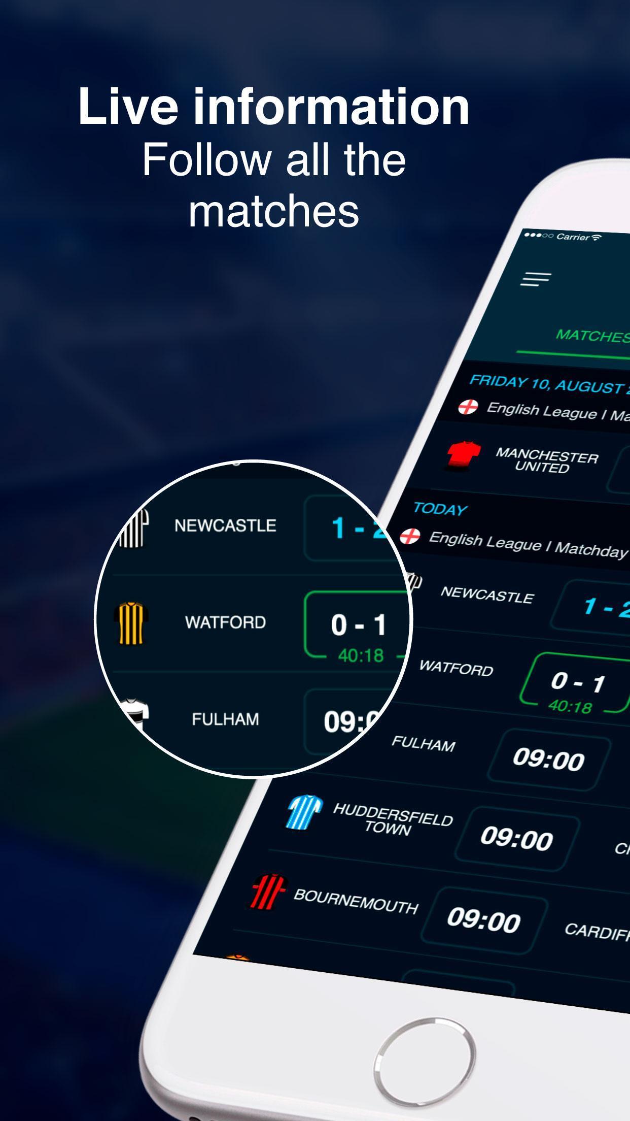 English Football Scores 1 تصوير الشاشة