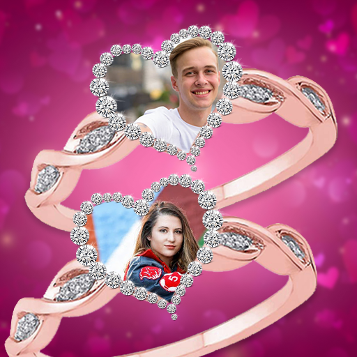 Lovely Ring Photo Frames : Love Couple Rings icon