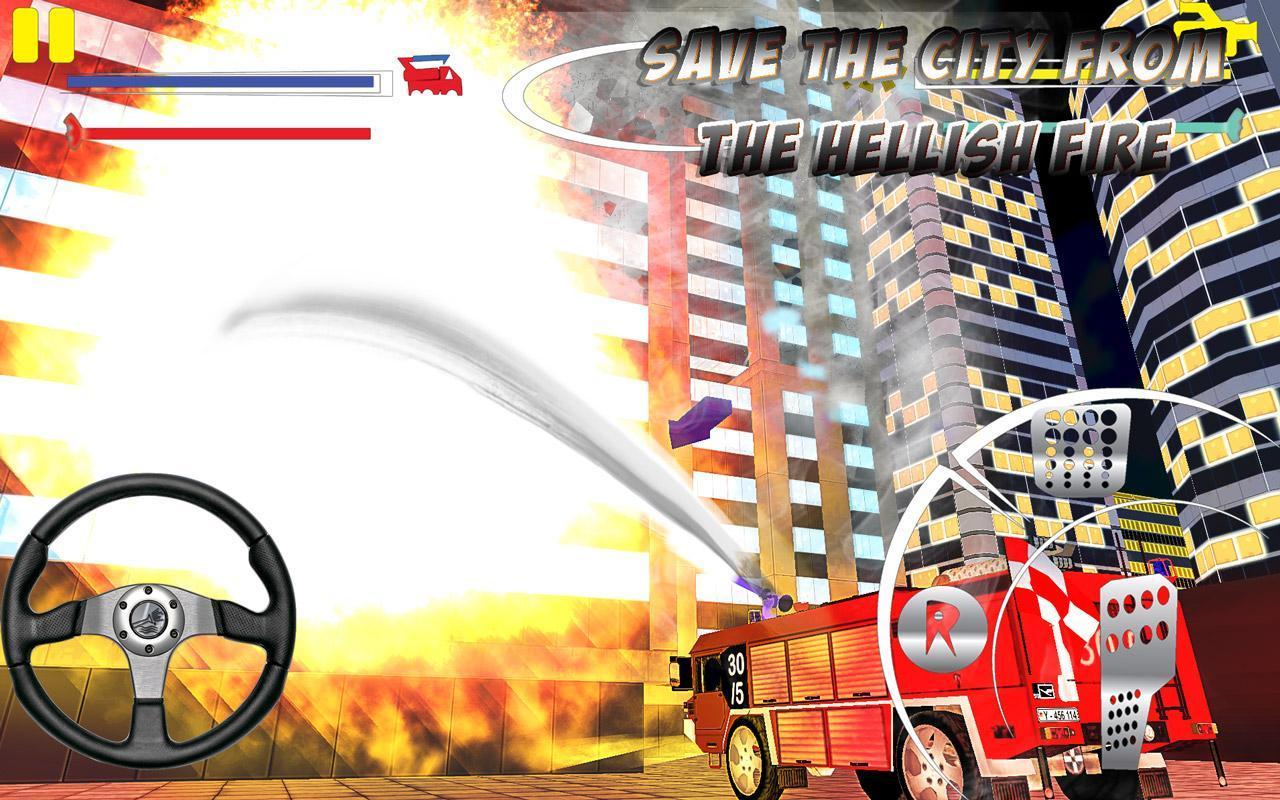 Firefighter-Fire Brigade Truck screenshot 3