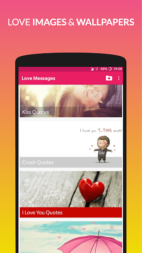 Love Messages: Romantic SMS Collection❤ screenshot 2