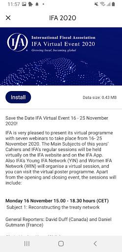 IFA App 2 تصوير الشاشة