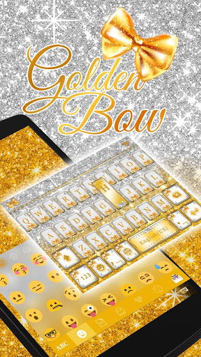 Golden Bow Keyboard Theme screenshot 2