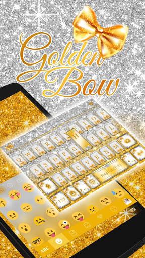 Golden Bow Keyboard Theme screenshot 2