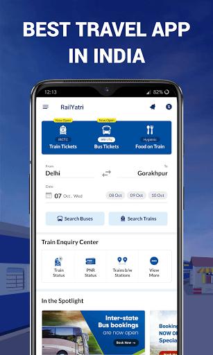 IRCTC Ticket, Train Status, Railway App: RailYatri screenshot 7