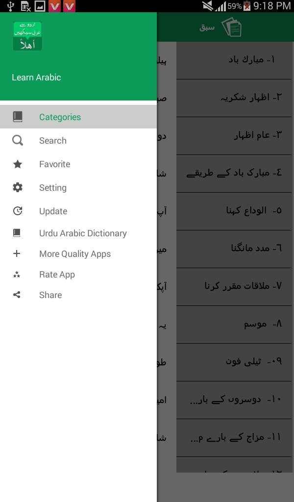 Learn Arabic Language offline free - Speak Arabic screenshot 9