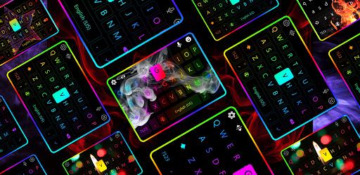 LED Lighting Keyboard - Emojis, Fonts, GIF screenshot 2
