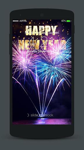 New Year Neon 2020 Lock Screen screenshot 6