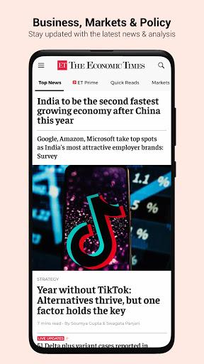 The Economic Times: Sensex, Market & Business News 1 تصوير الشاشة